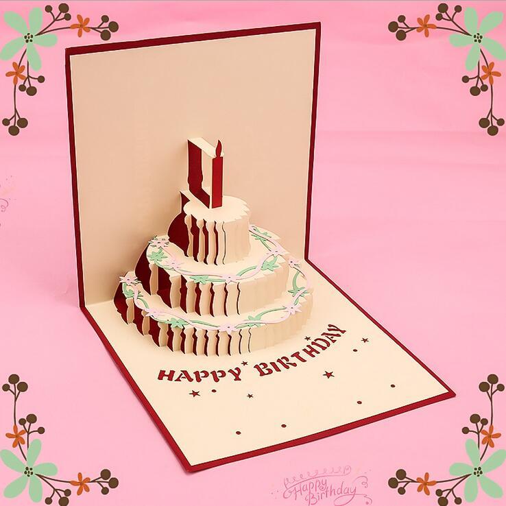 оригами 3д открытка торт на день рождения одна деталь далась