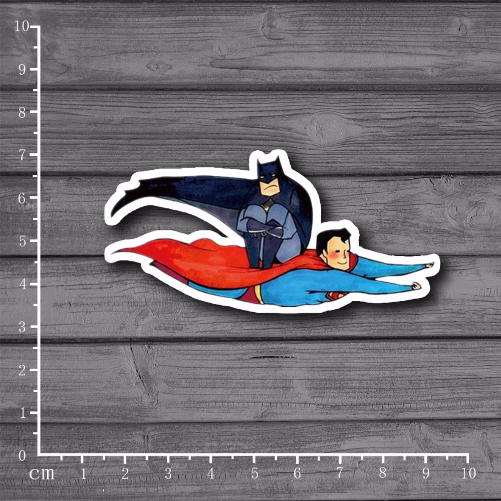 Superman Batman Gay Love Laptop Notebook Skin Stationery Stickers Snowboard Luggag Decal For Kid Toy Suitcase Stickers[single]
