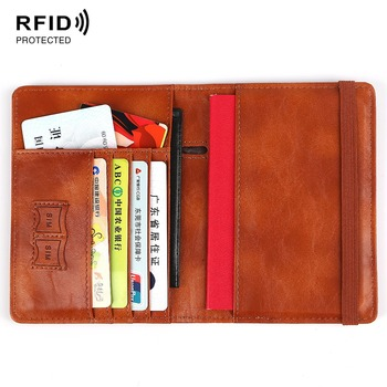 RFID Blocking Russian Auto Driver's License Bag PU Leather Passport Cover for Car Driving Documents Card Credit Holder wallet - sale item Wallets & Holders