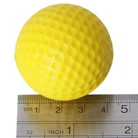 10X Wholesale 10pcs Yellow Soft Elastic Indoor Practice PU Golf Ball