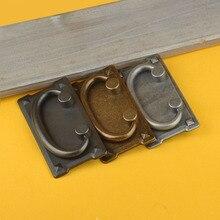 2PCS/Lot Antique Bronze Label Tag Pull Retro Furniture Cabinet Drawer Frame Handle Name Card Holder Box