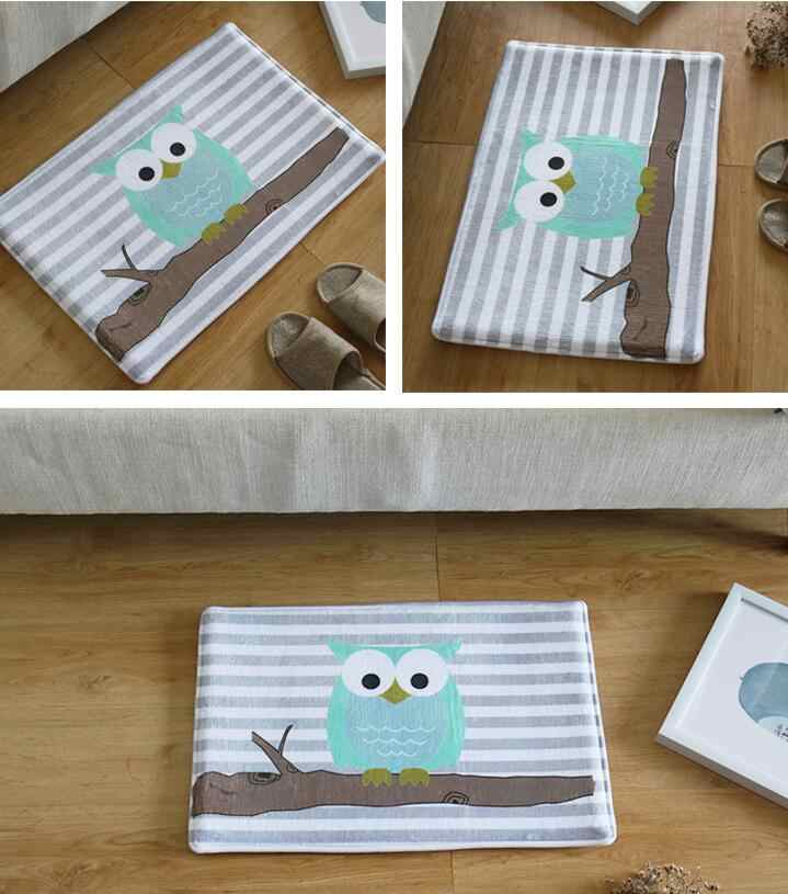 Бесплатная доставка Сова мультфильм коврики для спальни ванная комната коврики зал кухонные ковры маленький ковер