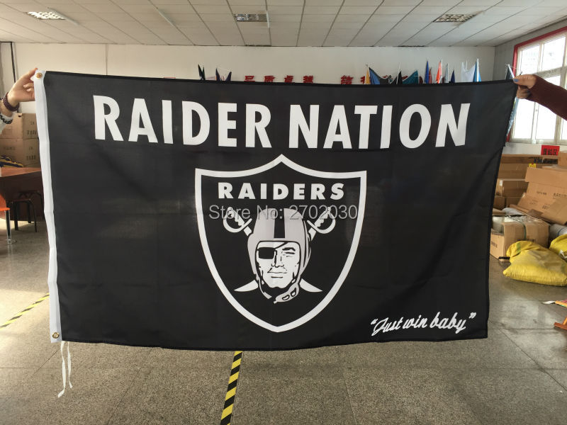 RAIDER NATION Oakland Raiders US Flag Abendessen Team Banner Fan Fußball 3ft * 5ft Alle Fliegen Benutzerdefinierte Flagge 100D Digitaldruck 010