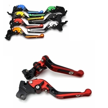 цена на for YAMAHA FZ-10 MT-10 2016-2017 CNC Motorcycle Accessories Adjustable Brake Clutch Levers Foldable Extending with logo