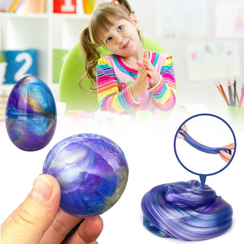 DIY Egg Crystal Slime Playdough Magnetic Colored Plasticine Mud Putty Magnetic Clay Education Handgum Slime Toys For Kids