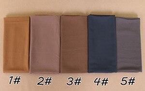 Image 2 - 115*115cm Popular High quality square size bubble chiffon shawls hijab headband wrap muslim 38 color scarves/scarf 10pcs/lot