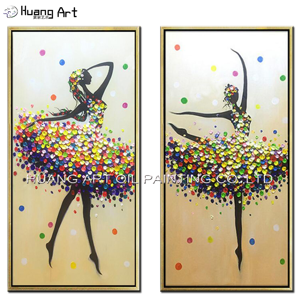 Hand Painted Beautiful Abstract Dancer Painting For Room