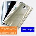Оригинал для Samsung Galaxy Note 5 Вернуться Задняя Крышка Батареи Дверцу Корпуса Замена с Логотипом + Задняя Крышка Наклейка 4 Цвета