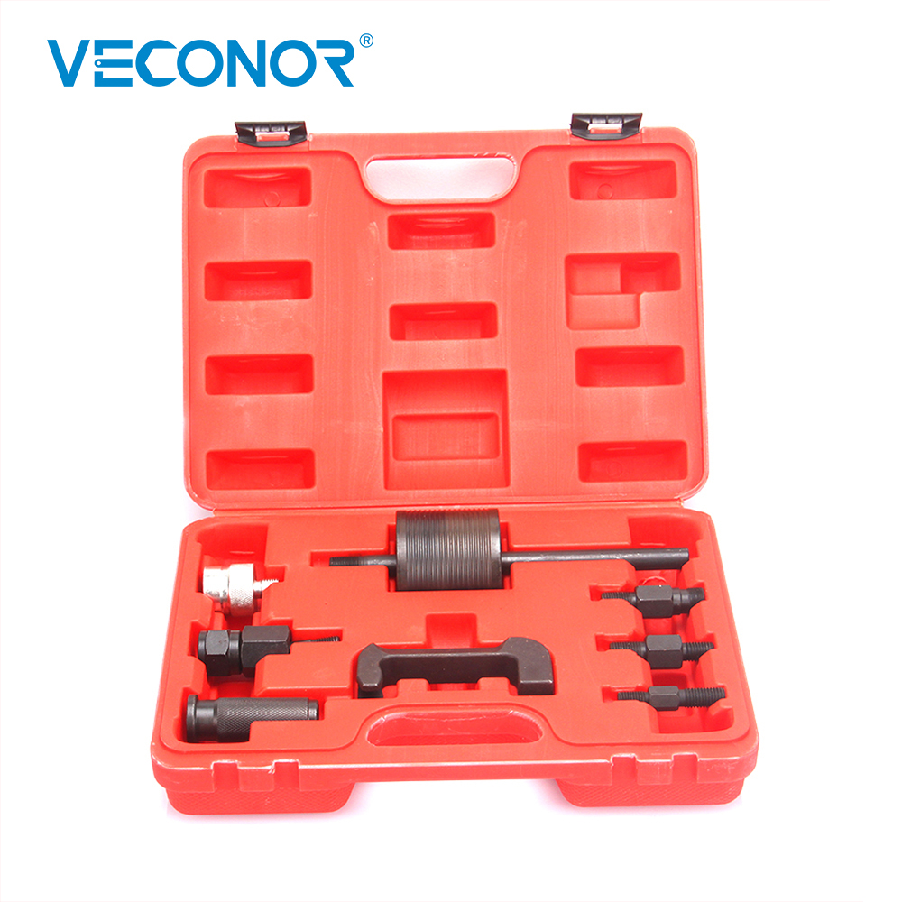 Veconor 9pcs CDI AT55 diesel common rail injector puller extractor set slide hammer for removal of common rail injectors benbaowo tools sealey diesel injector puller mercedes cdi heaters work tools