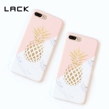 LACK Gold Pineapple Phone Case For iphone 6 Marble Texture Geometric Splice Case For iphone 6 6s 7 Plus Soft IMD Back Cover Capa
