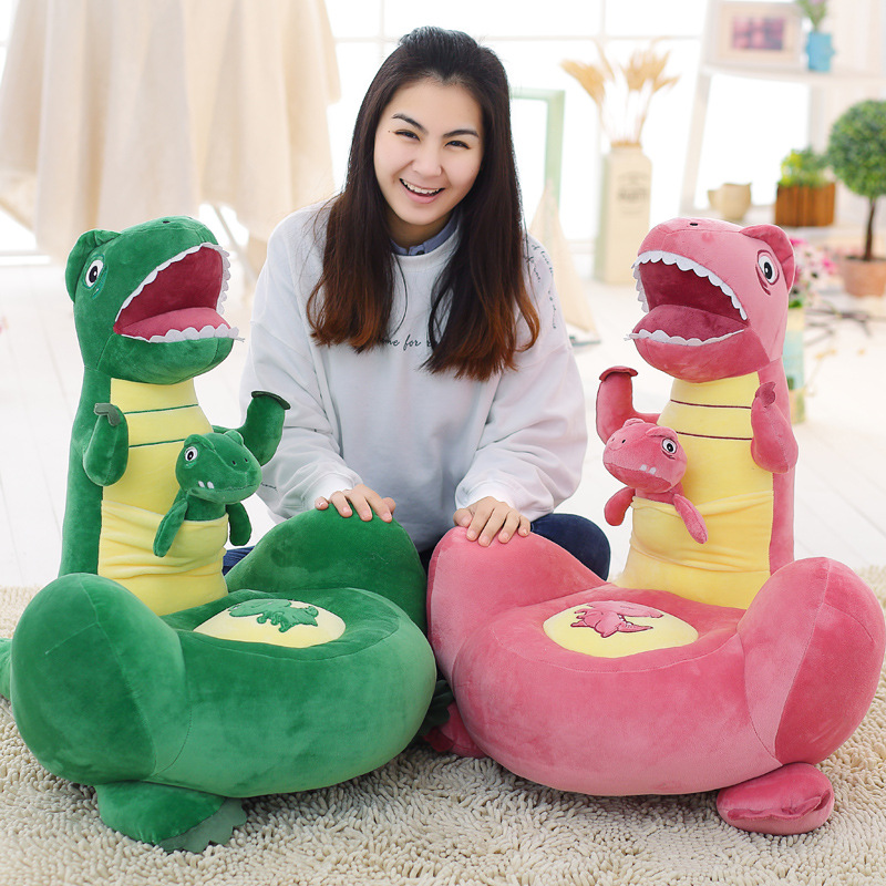 2017 New Hot Sale Creative Bedroom Lazy Cute Plush Cartoon Dinosaur Sofa Baby Plush Toys Sofa Child Seat Baby Chair 3 Colors hot sale super soft baby sofa multifunctional inflatable baby sofa chair sofa seat portable child kids bath seat chair