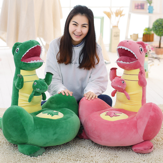 2017 New Hot Sale Creative Bedroom Lazy Cute Plush Cartoon Dinosaur Sofa Baby Plush Toys Sofa Child Seat Baby Chair 3 Colors