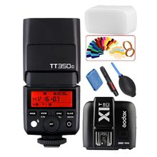 Godox Мини tt350c TTL HSS Max 1/8000 s 2.4 г Беспроводной x Системы flash с x1t-c передатчик для камер Canon 1300d 800D 760d 77D