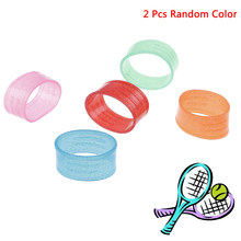 2pcs Sweat Stretchy Absorbing Elastic Sports Tennis Grip Ring Silicone Absorb Fix Ring Racquet Protector Overgrip Badminton(China)