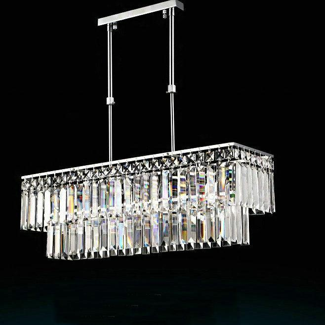 Free Shipping K9 Crystal Kitchen Dinning Room Pendant Light Cristal Res Indoor Lighting Ac 110v 220v In Lights From On