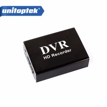 1 canal Mini CCTV DVR soporta tarjeta SD en tiempo Real Xbox HD Mini 1Ch DVR tablero MPEG 4 compresión de vídeo Color negro