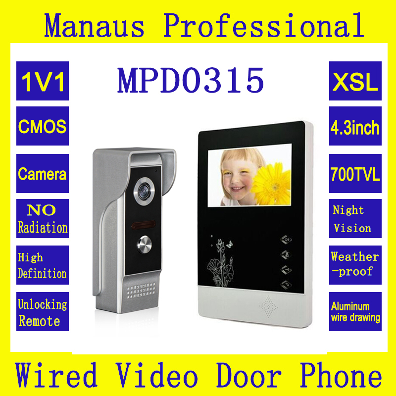 Hot Selling Professional Smart Home 4.3inch Screen Video Intercom Phone New Outdoor Waterproof Camera Infrared Night Vision D315