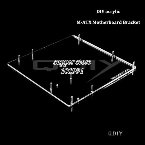 DEBROGLIE 1PCS M-ATX Motherboard bracket DIY Transparent/Black acrylic Matx Motherboard Graphics video Card Tray for Computer vg 86m06 006 gpu for acer aspire 6530g notebook pc graphics card ati hd3650 video card