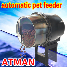 ATMAN Fish Tank Samll Automatic Timing Feeder For Ornamental Fish Tortoise Suitable For All Kinds Of Pellet/Slice/Strip Feed 120 150kg h poultry farm equipment animal feed pellet machine cheap price floating fish feed pellet making machine