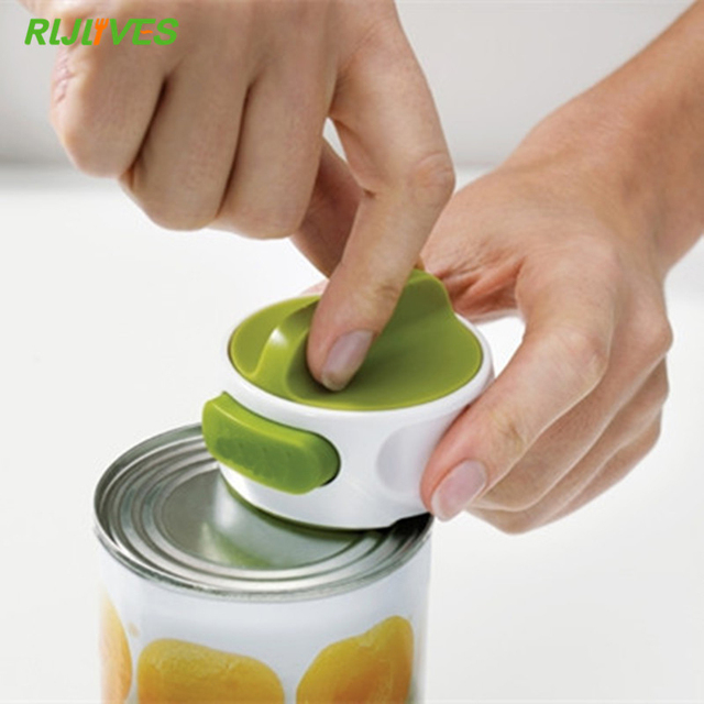1 Pc Round Can Opener Stainless Steel Easy Manual Rotation Canned Fruit Luncheon Meat Non-slip Openers Kitchen Tools 1