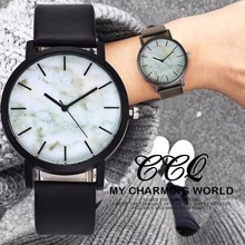 Hot Sale Marble Style Leather Quartz Women Simple Watch CCQ Brand Popular Men Casual Wristwatches Lovers Relojes Relojes Mujer