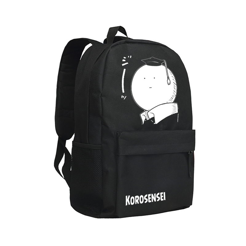 Zshop Korosensei Backpacks Oxford Mochila Backpack Assassination Classroom School Bags for Teenagers Children Book Bag Kids 3d car styling children school bags for teenagers boys kids cartoon backpack book bag large capacity mochila escolar