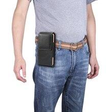Pochete universal de 4.7 a 6.9 polegadas, pacote de cintura de celular pequena, estojo de couro pu, com clipe de cinto casual saco do saco