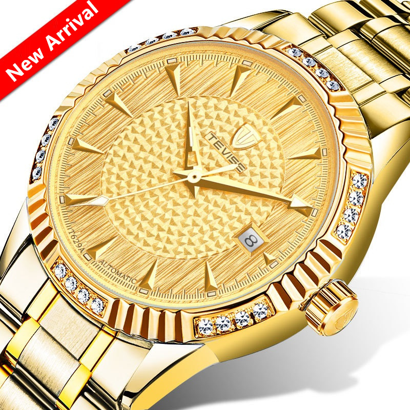 2017 Men Watches Luxury Brand TEVISE Automatic Mechanical Watch Waterproof Calendar Steel Mens Wrist Watches Relogio Masculino tevise men watch luxury gold full steel automatic mechanical waterproof watches with date mens wristwatch relogio masculino