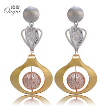 2018 african Jewelry Long Drop  Exquisite Jewelry For Women Big Hoop Earrings Pendant Copper Round Vehicle Wheel Wedding Party