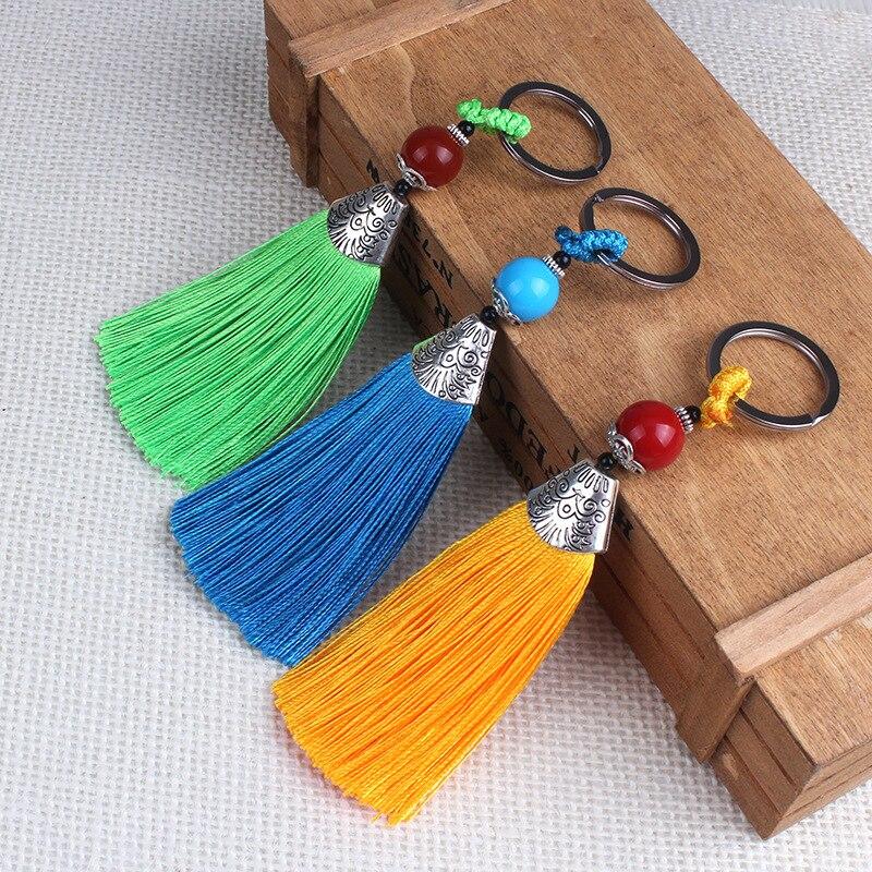 Key ring tassel decorative silk diy tassel silk tassel sewing fabric accessories fringe trim for DIY Pendant tassel bag Decor