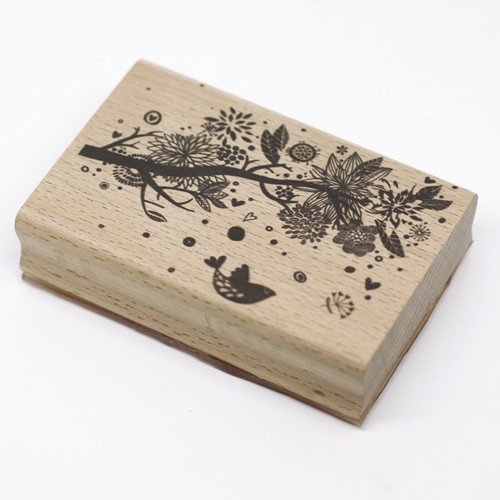 High quality flying bird with flower 9*6cm  wooden stamp of scrapbooking rubber stamps carimbo For card diy stempel high quality 9x9x9 speed cube for adults 9 9 9 puzzle
