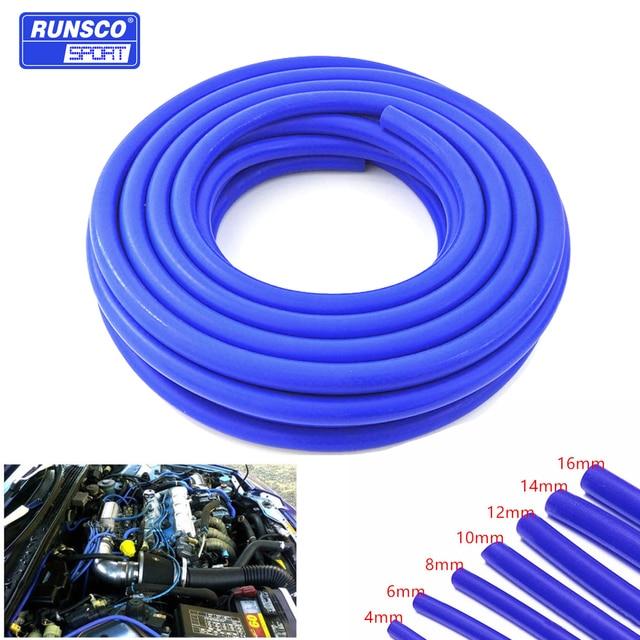 Tubo de aspiración de silicona, manguera de refrigerante, tubería de silicona, Intercooler, ID de tubo de 4mm, 6mm, 8mm, 10mm, 12mm