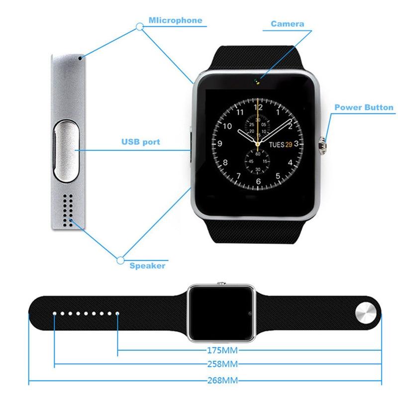 Relógio Inteligente Bluetooth para Iphone Samsung Xiaomi Android