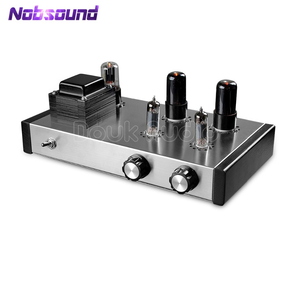 Nobsound Latest Pure Handmade 6J4 Push 6P6P Valve Tube Amplifier Stereo HiFi Class A Tube Pre-Amplifier 4-Inputs стоимость