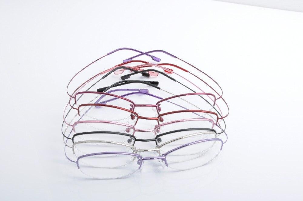 6ec6dd1ccd2 DEDING Women semi rimless eyeglasses Stainless Steel eyeglass frames wire  half eye multi colored eyeglass frames las gafas 1422-in Eyewear Frames  from ...