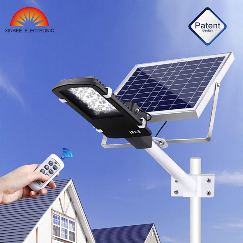 XINREE 15 W Led Da Giardino Luce 12 LED di Energia solare della Luce di Via Solare con Telecomando Giardino Sicurezza Stradale Lampada Impermeabile IP65