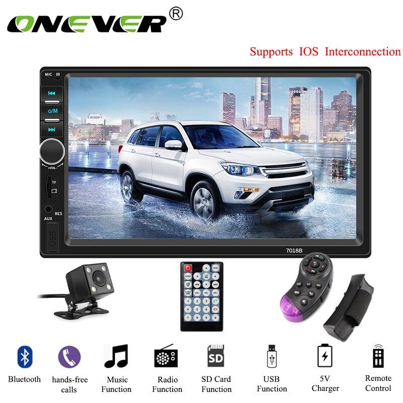 Onever Car Radio 7 HD Autoradio Multimedia MP5 Player Touch Screen Audio Bluetooth AUX USB TF