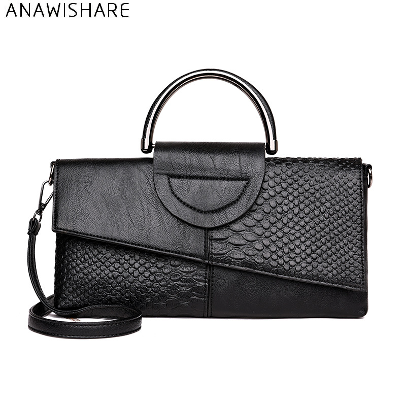 ANAWISHARE font b Women b font Day Clutches Alligator Leather Handbag Crossbody font b Bag b