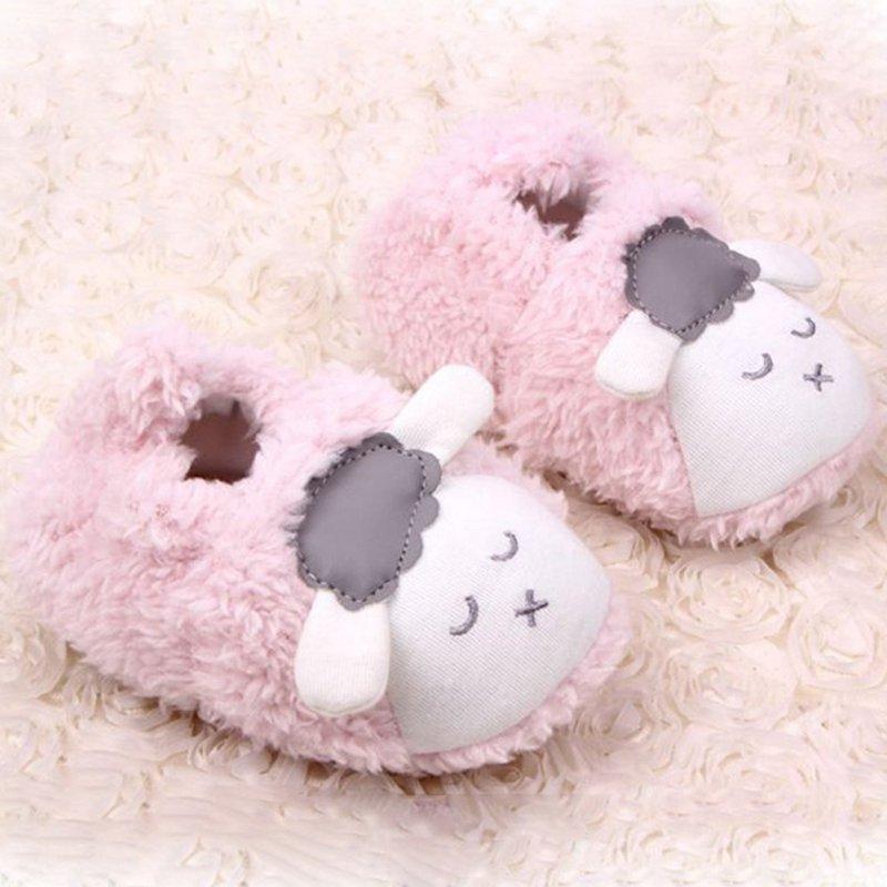 Супер милый ребенок обувь для девочек Детские Зимние теплый плюш пинетки детские мягкие тапочки кроватки Обувь для малышей