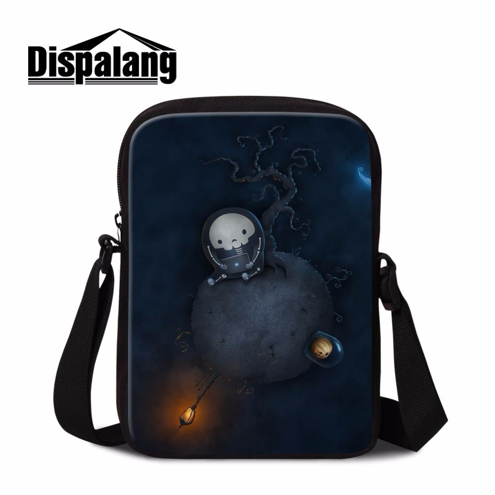 Small Shoulder Bags Cross-body Bags Skull Designs Men Boys Mini Messenger Purse