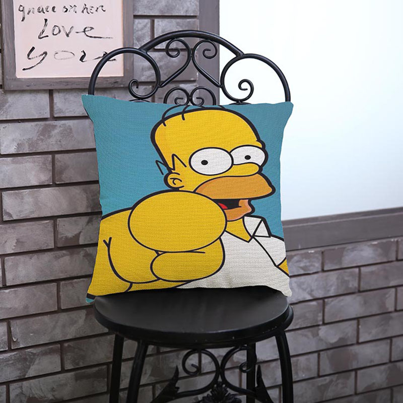 Family comedy humor The Simpsons Cartoon Character images pillow case Home decoration cushion cover The simpsons fans Gifts