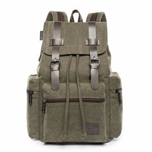 Outdoor Sports Travel Bag for Men Canvas Sport Rucksack Camping School Satchel Hiking Backpack Large Capacity Backpacks