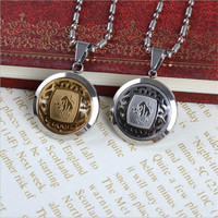 12 Horoscope Gold And Silver Plated Tone Stainless Steel Round Badge 12 Signs Of Zodiac Pendant