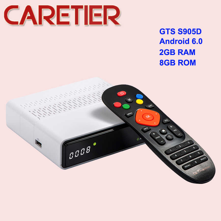 GTmedia GTS DVB-S2 Satellite Receiver Amlogic S905D WiFi Android 6 0 TV BOX  2GB RAM 8GB ROM Freesat Receptor 5pcs