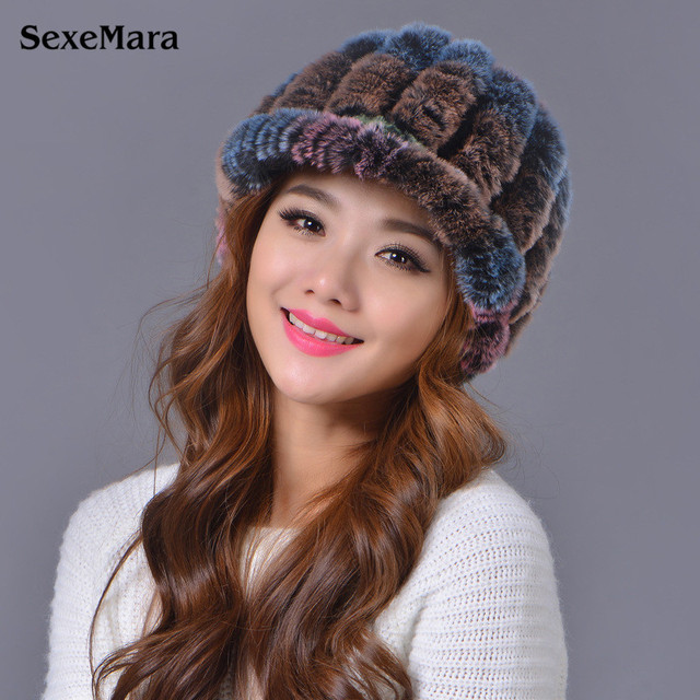 2016 Hot Sales Fur Hat Rabbit Fur Hat For Women Winter Hats Bonnet Femme Hats Women Fur Caps Free Shipping