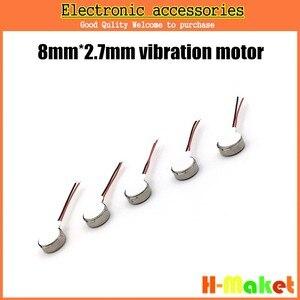 Image 2 - 100 sztuk/partia telefon komórkowy wibrator silnika 0827 monety wibracyjne magnes stały silnika naleśnik MIni silnik 8mm x 2.7mm darmowa wysyłka