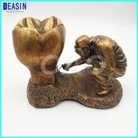 פסל נחושת חומר נחושת שיניים דגם של אדם ו פתולוגיה שיניים דגם שן שיניים מודל שיני