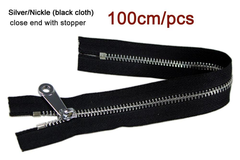 Gepäck & Taschen Nett #5 Weiß Zipper 100 Cm/1 Mt Silber Zähne Schwarz Stoff Tuch Metall-reißverschluss Für Nähen Tasche Zipper Für Kleidung Handtasche Schuhe Angemessener Preis
