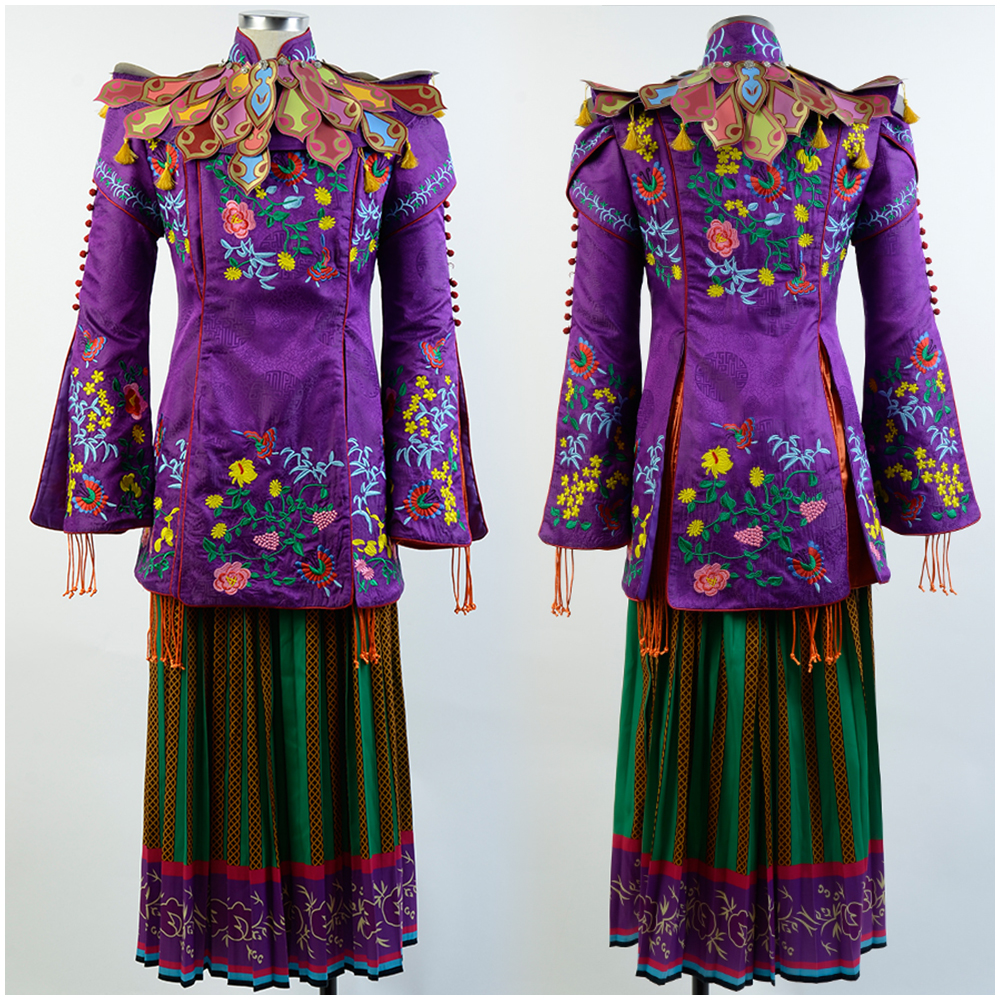 Alice Through The Looking Glass Mandarin Outfit Cosplay Costume Gown Suit Dress