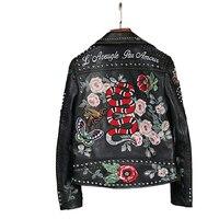 jacket High Quality jacket women Really Leather Women's Motorcycle Leather women jacket Handmade 200 Rivet leather coat